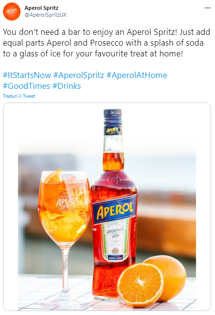 aperol spritz covid campaign