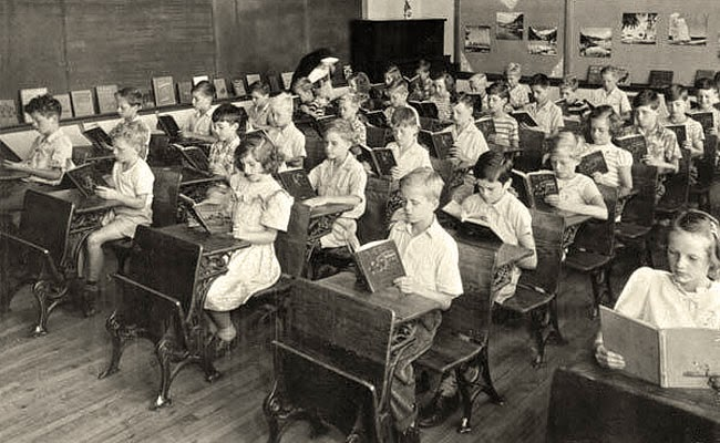 A classroom from the past