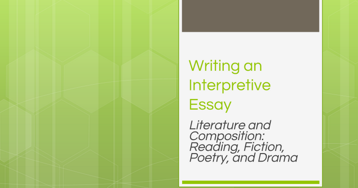 writing an interpretive essay trifles ebel google slides