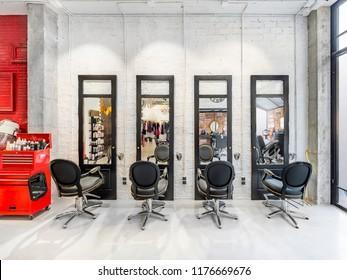 Hairdressing Salon Interior Design Images, Stock Photos & Vectors |  Shutterstock