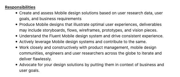 UX Design Bootcamp - UX Design Lead role at Microsoft