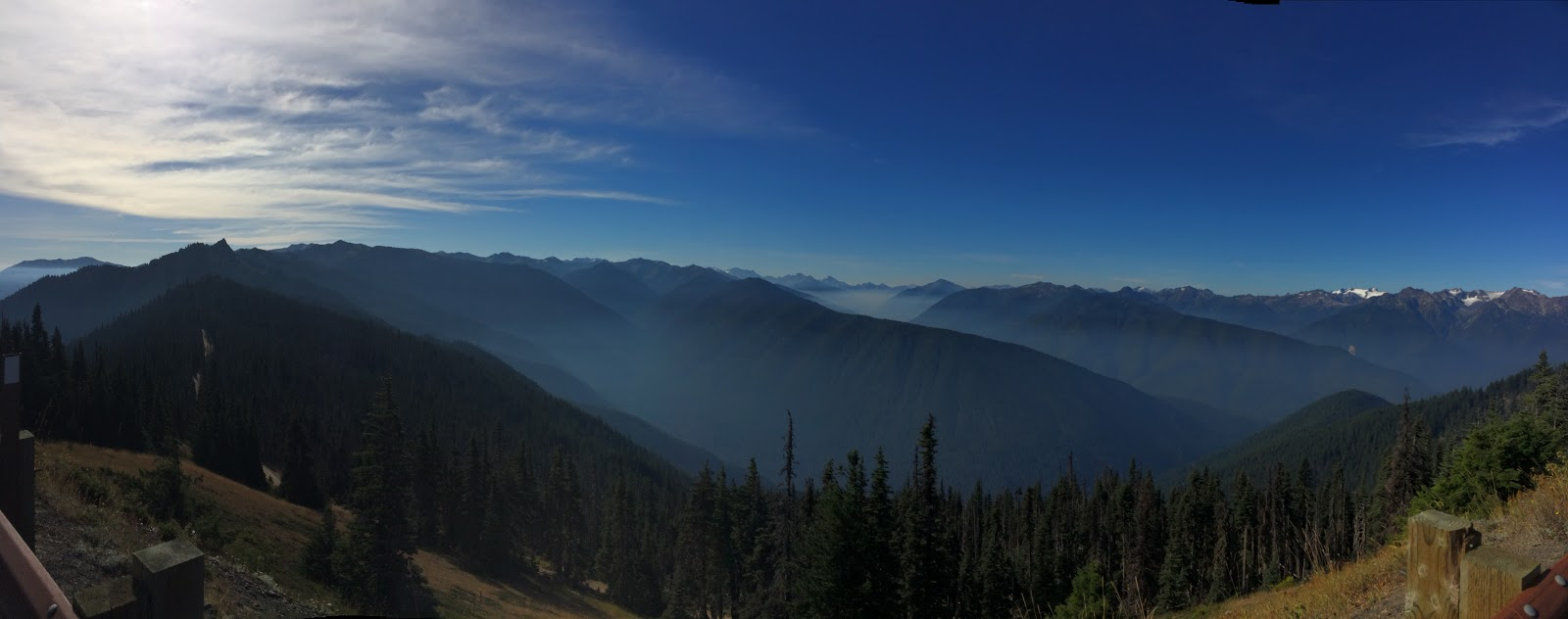 Riding our bike on Hurricane Ridge in Olympic National Park
