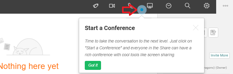 uShare - Start a conference