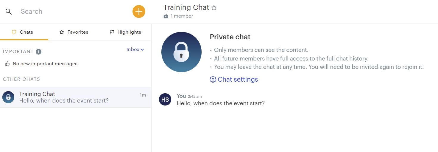 Blink's secure private chat system helps enhance the employee lifecycle.