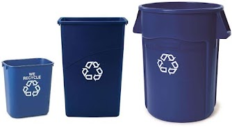 Example of Small, Medium and Large Recycling Bins