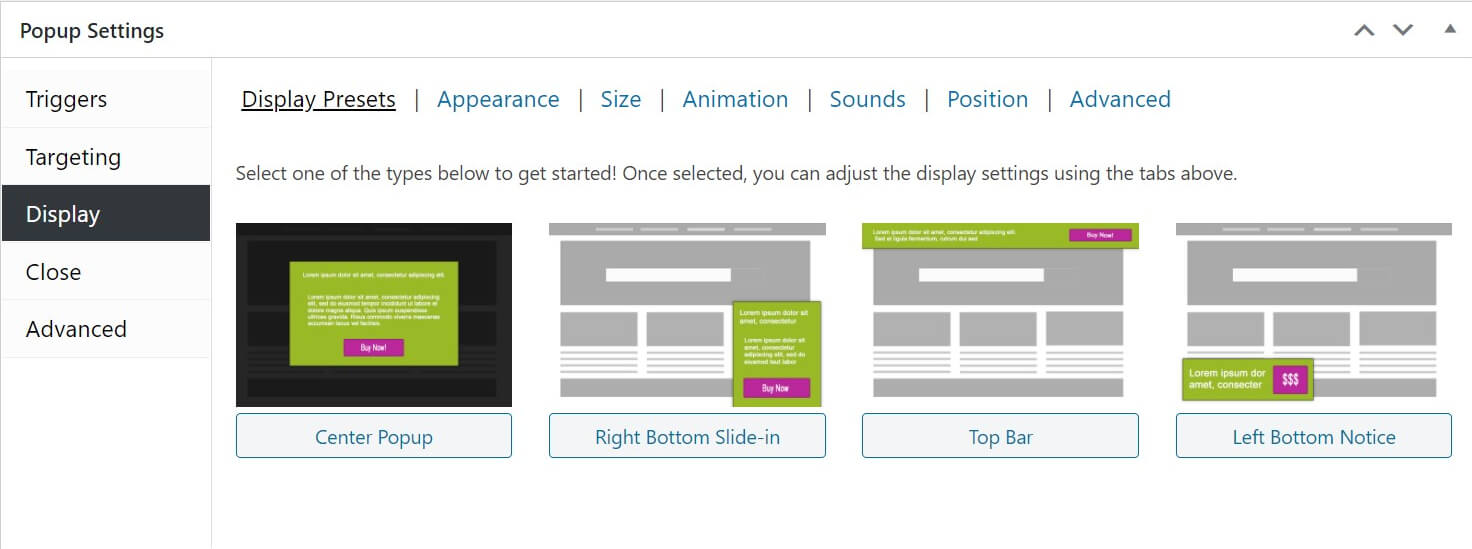 Custom style alert box WordPress