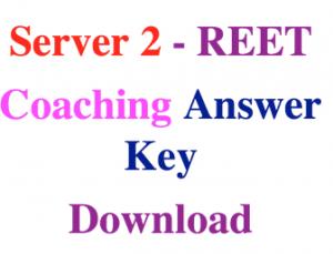 Resultuniraj REET Answer Key