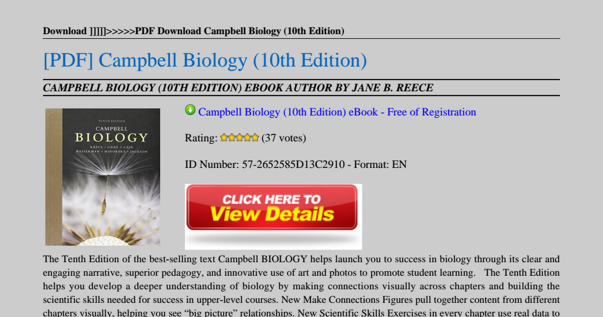 campbell biology 9th edition free pdf