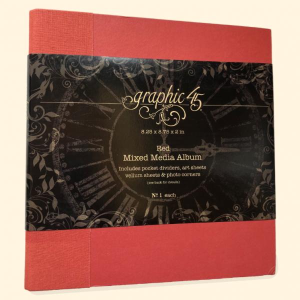 Mixed Media Album - Red