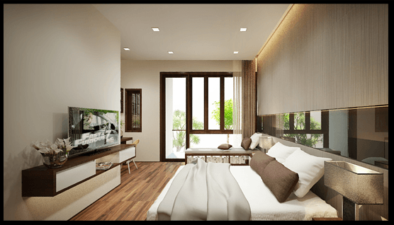 Thiết kế phòng ngủ chính nhà ống 3 tầng 4x12m