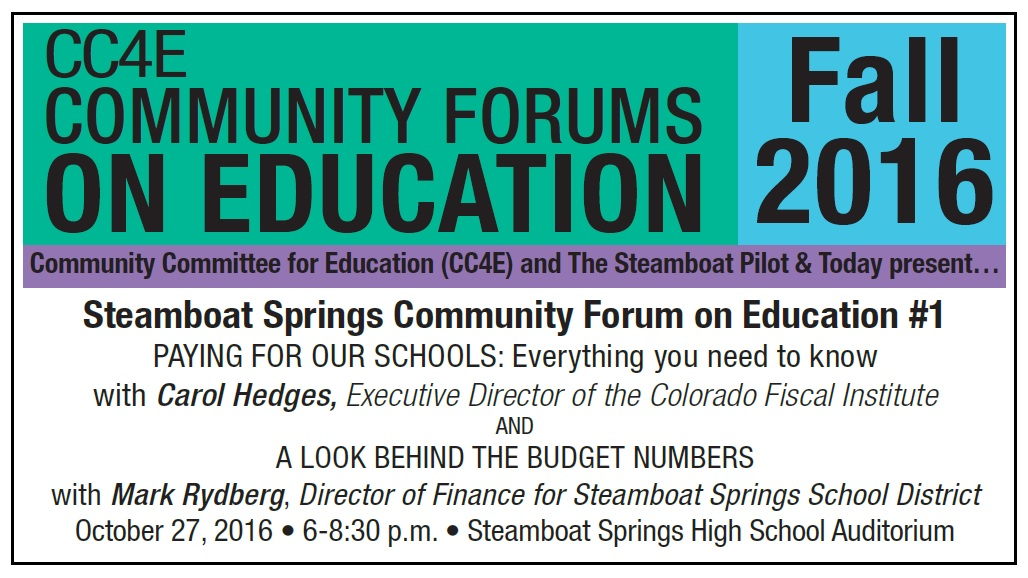 Community Committee for Education next meeting is November 1, 2016 and Communication for October 18, 2016