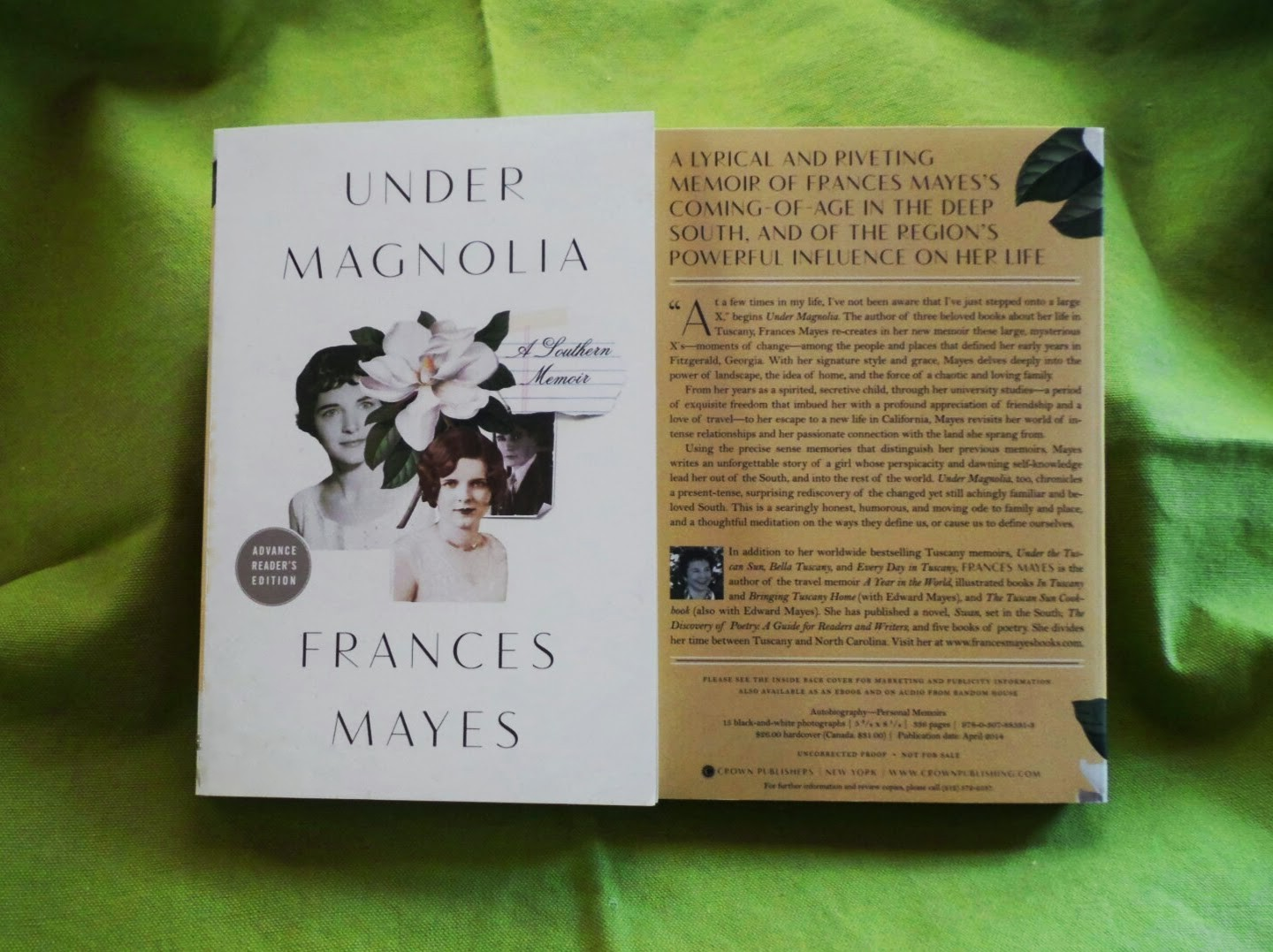 Under Magnolia by Frances Mayes Available April 1st, 2014  Shot with a Samsung Galaxy Camera #VZWBuzz by Katie Shea Design
