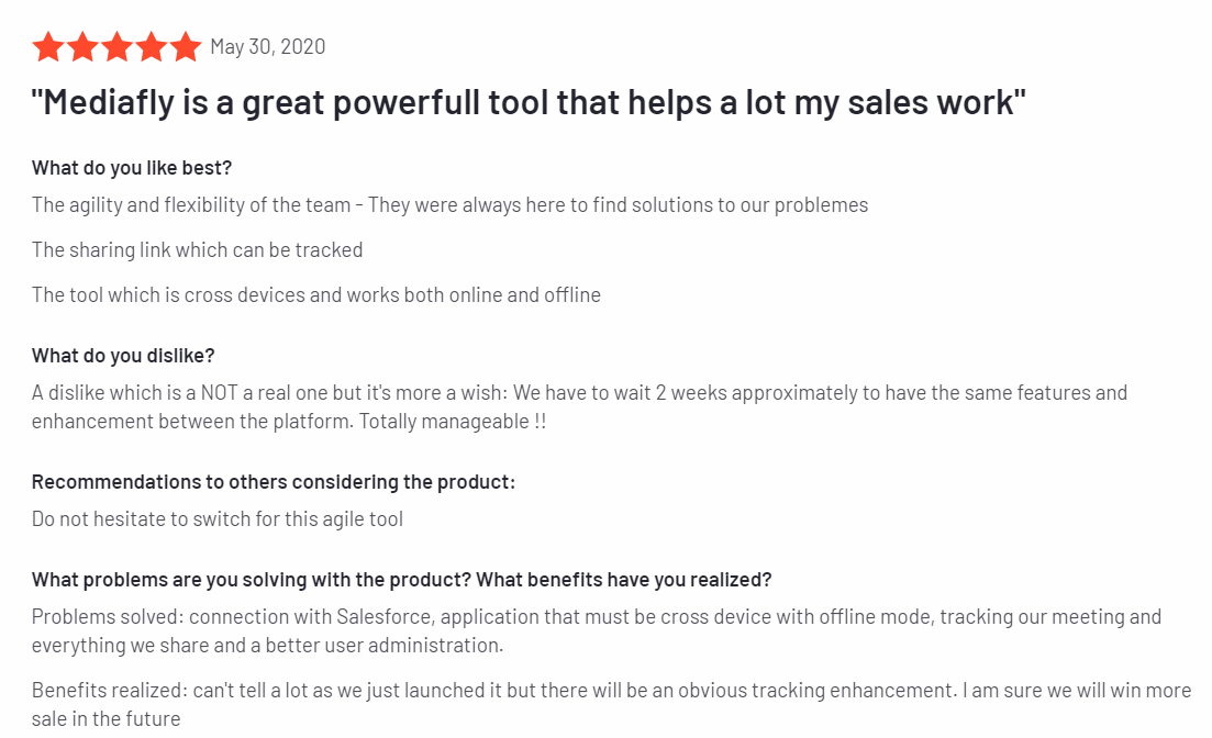 Mediafly - Best Sales Prospecting Tools 2020