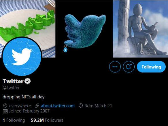 Twitter is giving away 140 free NFTs to followers — and they're not available any other way