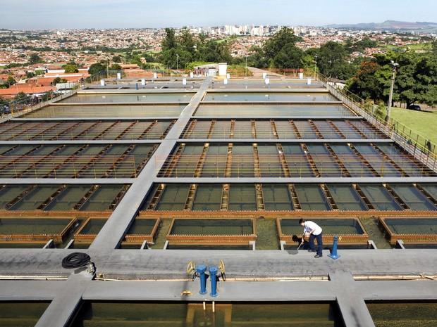 Estação de Tratamento de Água (ETA) de Limeira (Foto: Luciano Andrade)