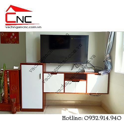 Xu hướng trang trí phòng khách từ vách ngăn và tủ kệ tivi gỗ 2020