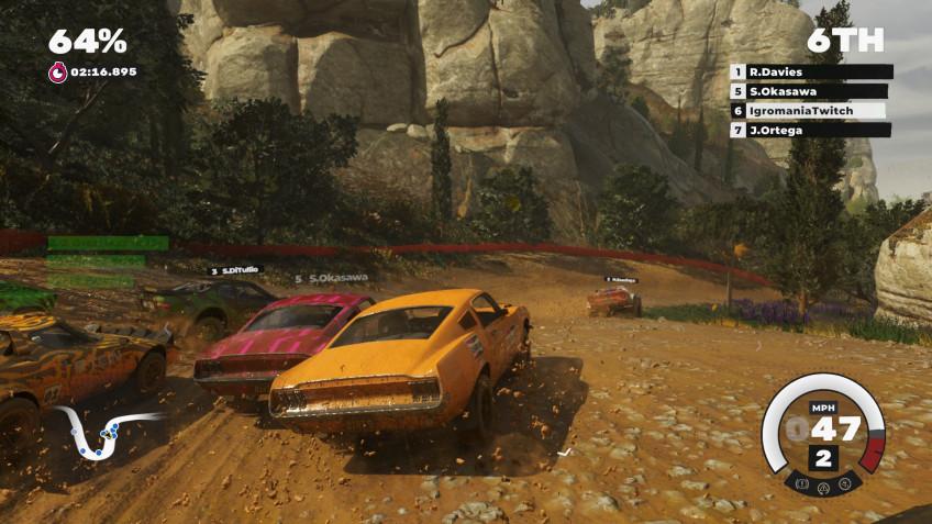 Возможность помесить грязь на культовом рычащем Ford Mustang — одна из приятнейших находок игры
