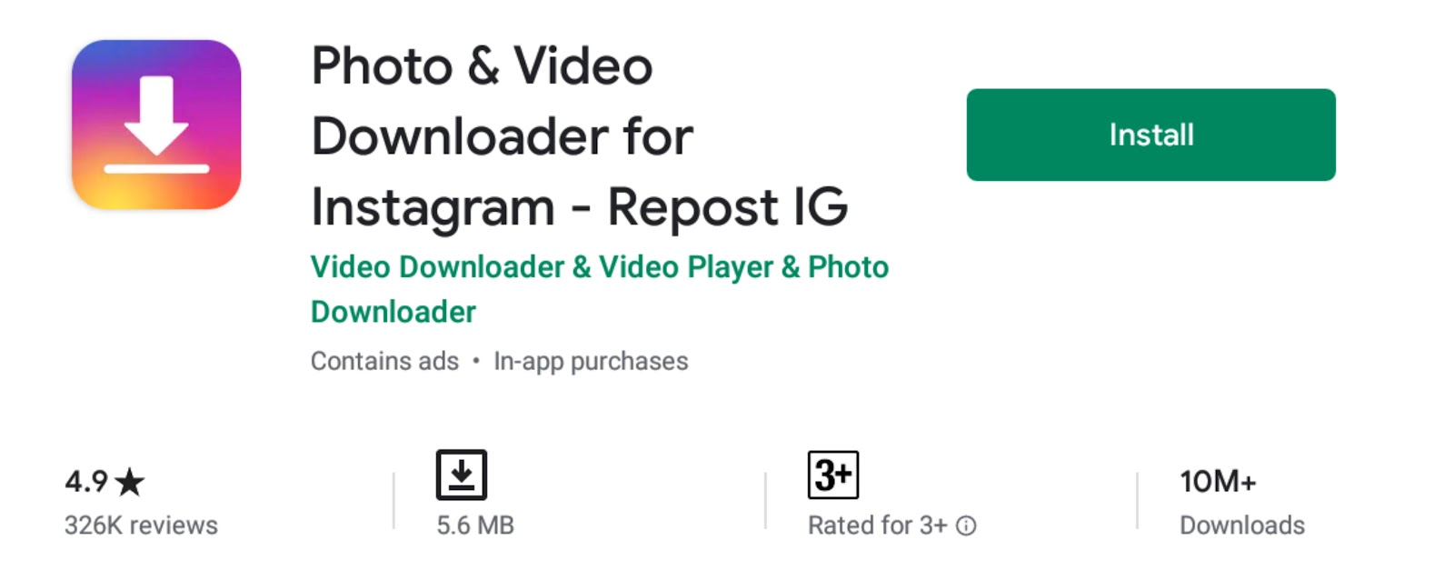 Photo & Video Downloader For instagram - Repost IG