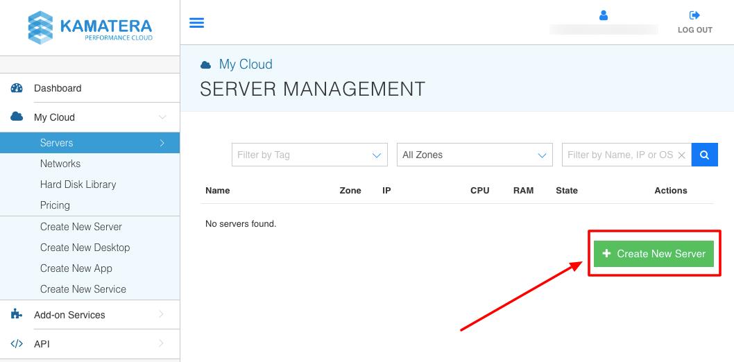 create a new server