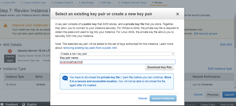 Create Virtual Machine on Amazon Web Services ( AWS ) 42