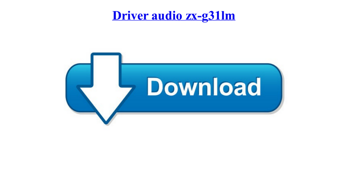 Driver audio zx-g31lm