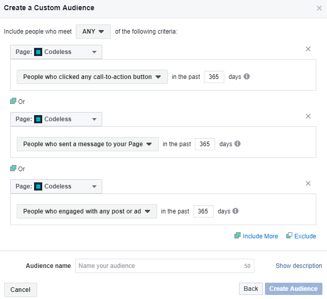 Messenger bot custom audience