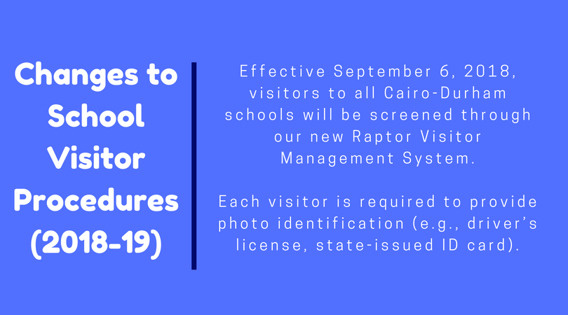 changes to school visitor procedures