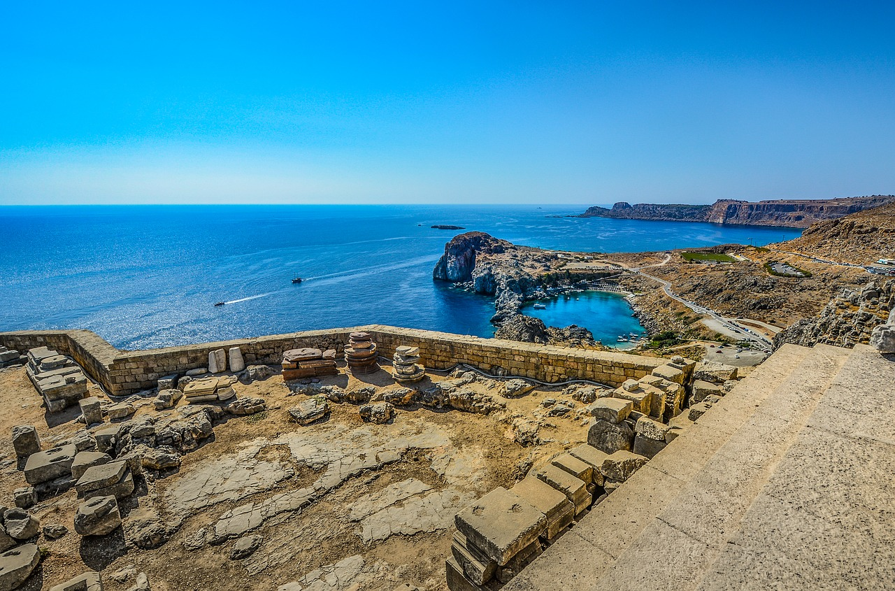 Rhodes ancient civilization ruins