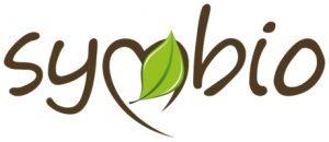 Subtelny zielony detal w logo marki Symbio