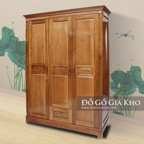 Tủ áo gỗ Xoan Đào 3 cánh TA028-3