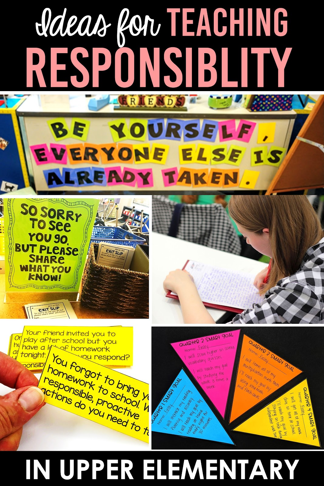 exit slips in upper elementary classroom