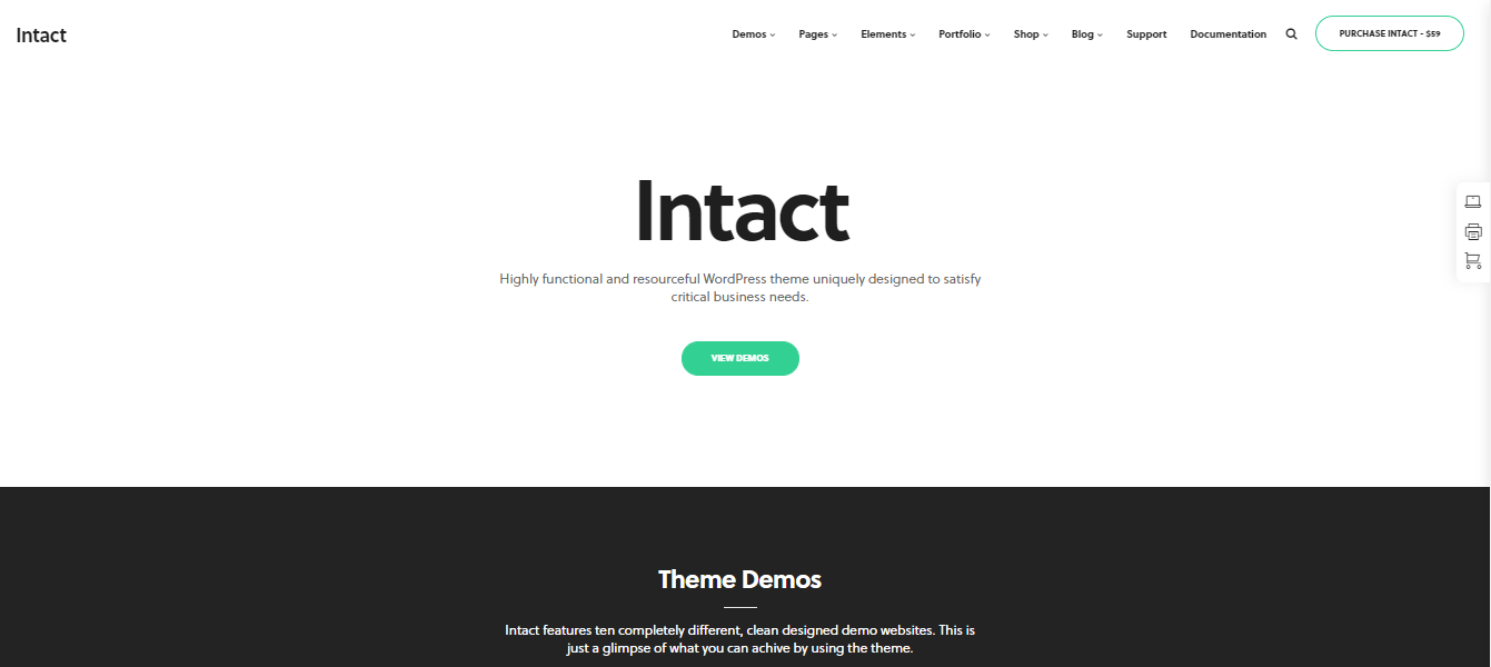 Intact - digital products woocommerce theme