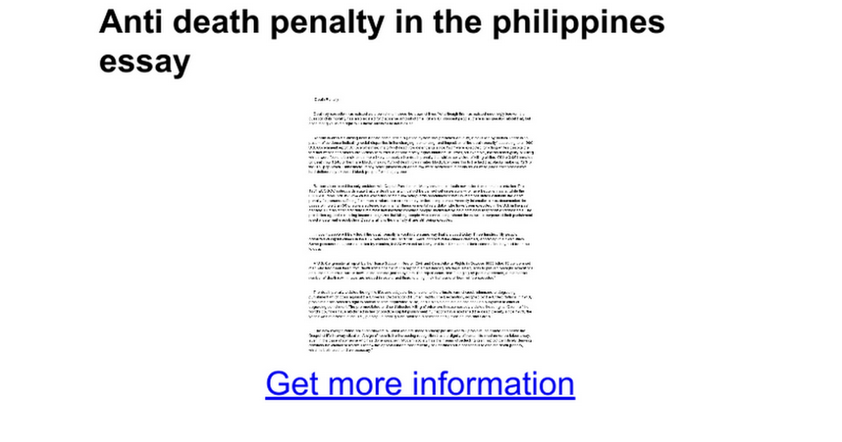 anti death penalty in the essay google docs