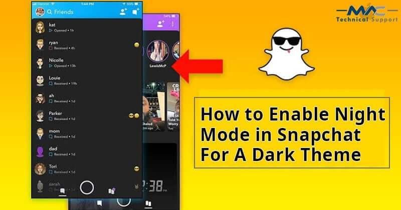 dark mode snapchat