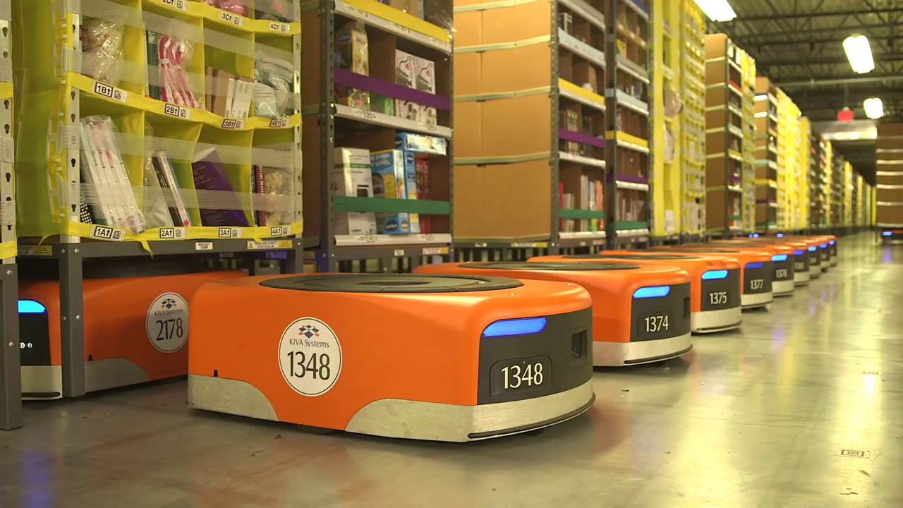 Amazon warehouse robots