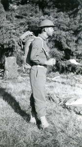 Mel at Fort Ord during basic training
