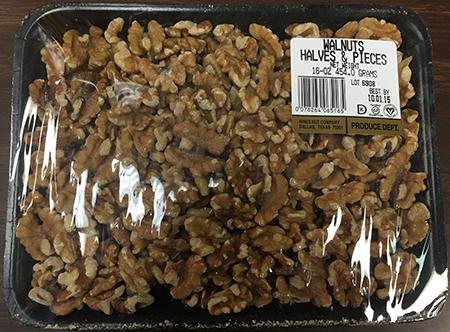 Label, Hines Nut Company Walnut Halves & Pieces