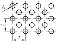 d1 - Круглое отверстие по квадрату, повернутому на 45°