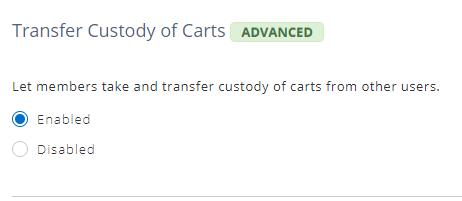 cart custody