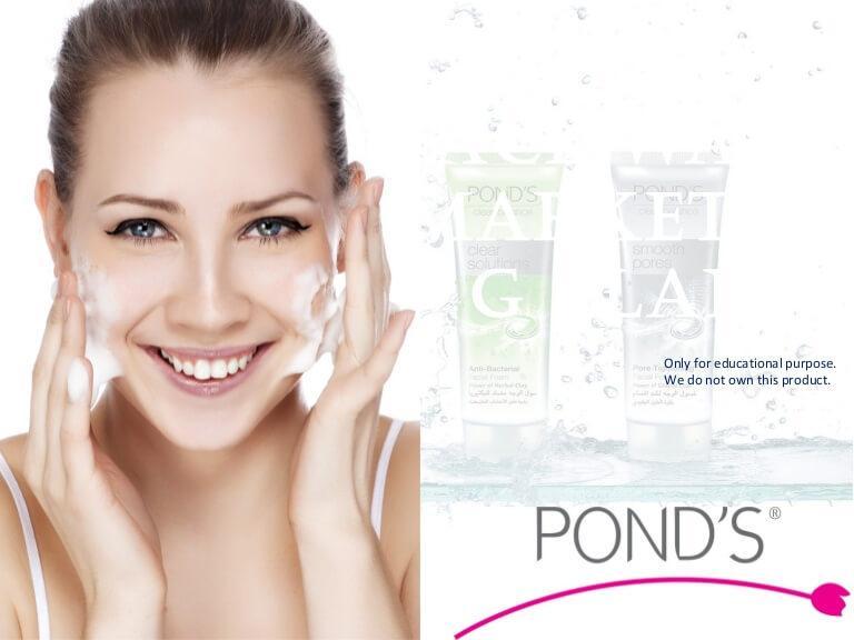 Ponds Face Wash application