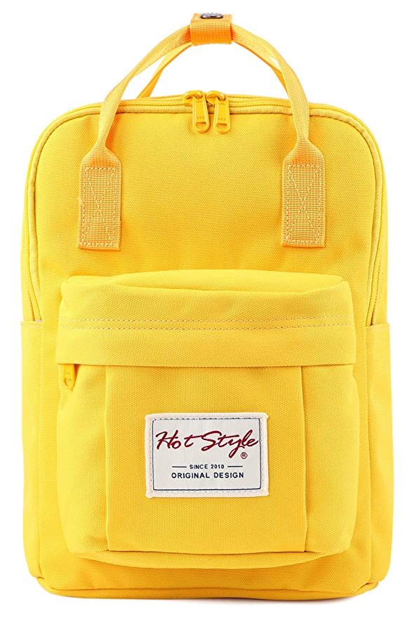 "BESTIE 12"" Cute Mini Small Backpack Purse Travel Bag, Yellow"