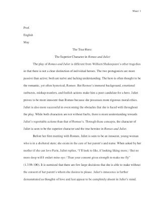 romeo and juliet personal response essay
