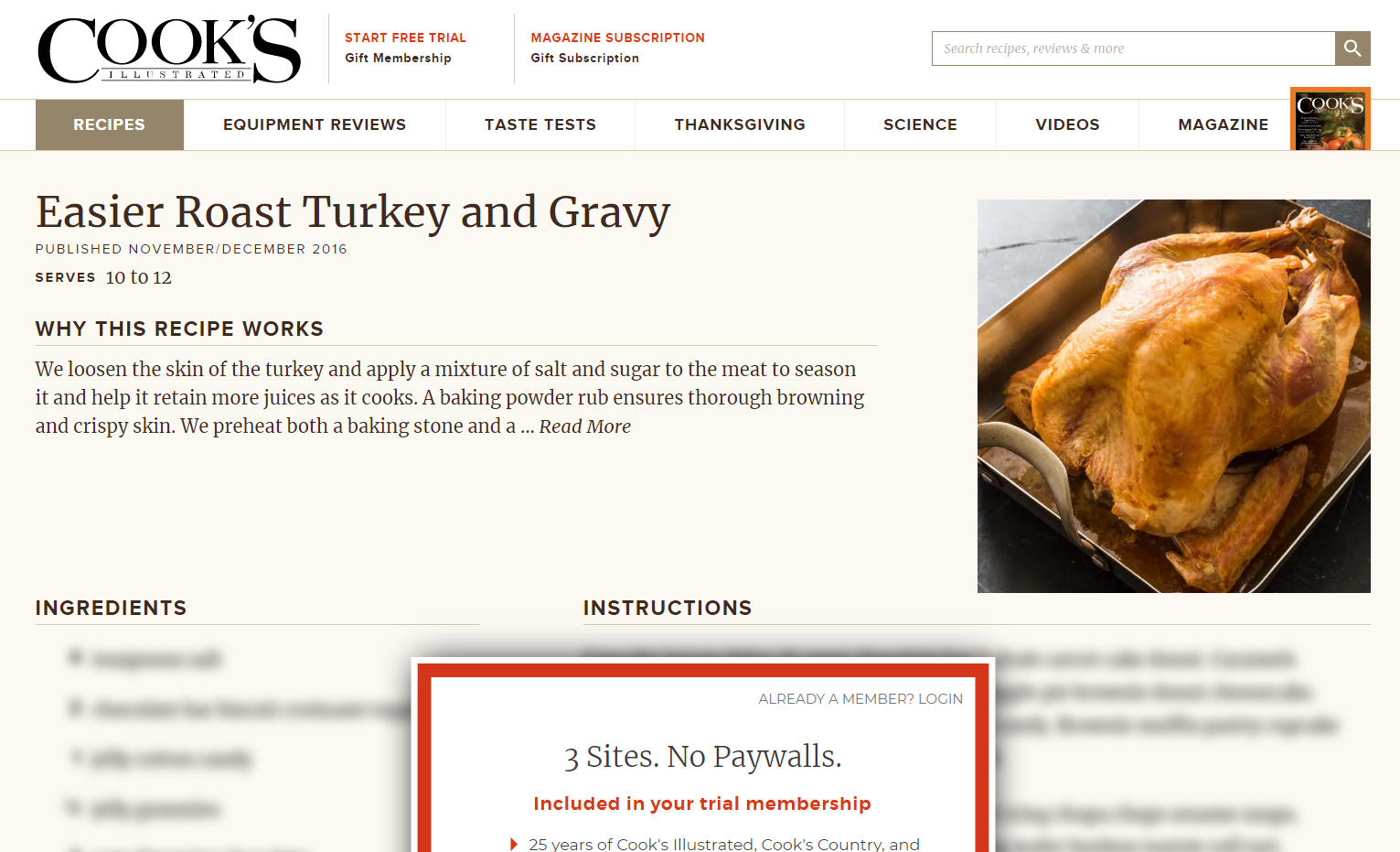 site teasing information behind a paywall.