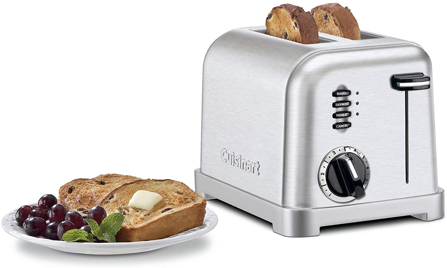 CUISINART TWO SLICE CLASSIC METAL TOASTER