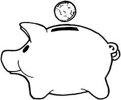 Image result for clipart savings bank | Piggy bank, Coloring pages, Super  coloring pages
