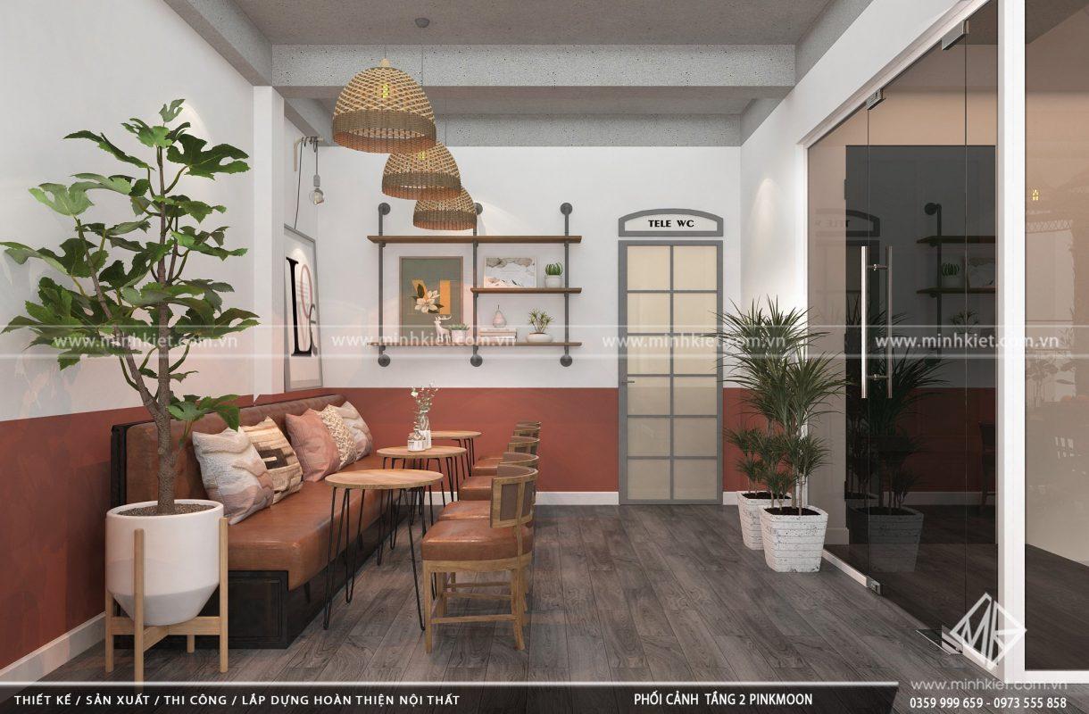 Mẫu thiết kế quán cafe đẹp độc đáo 300-500 triệu