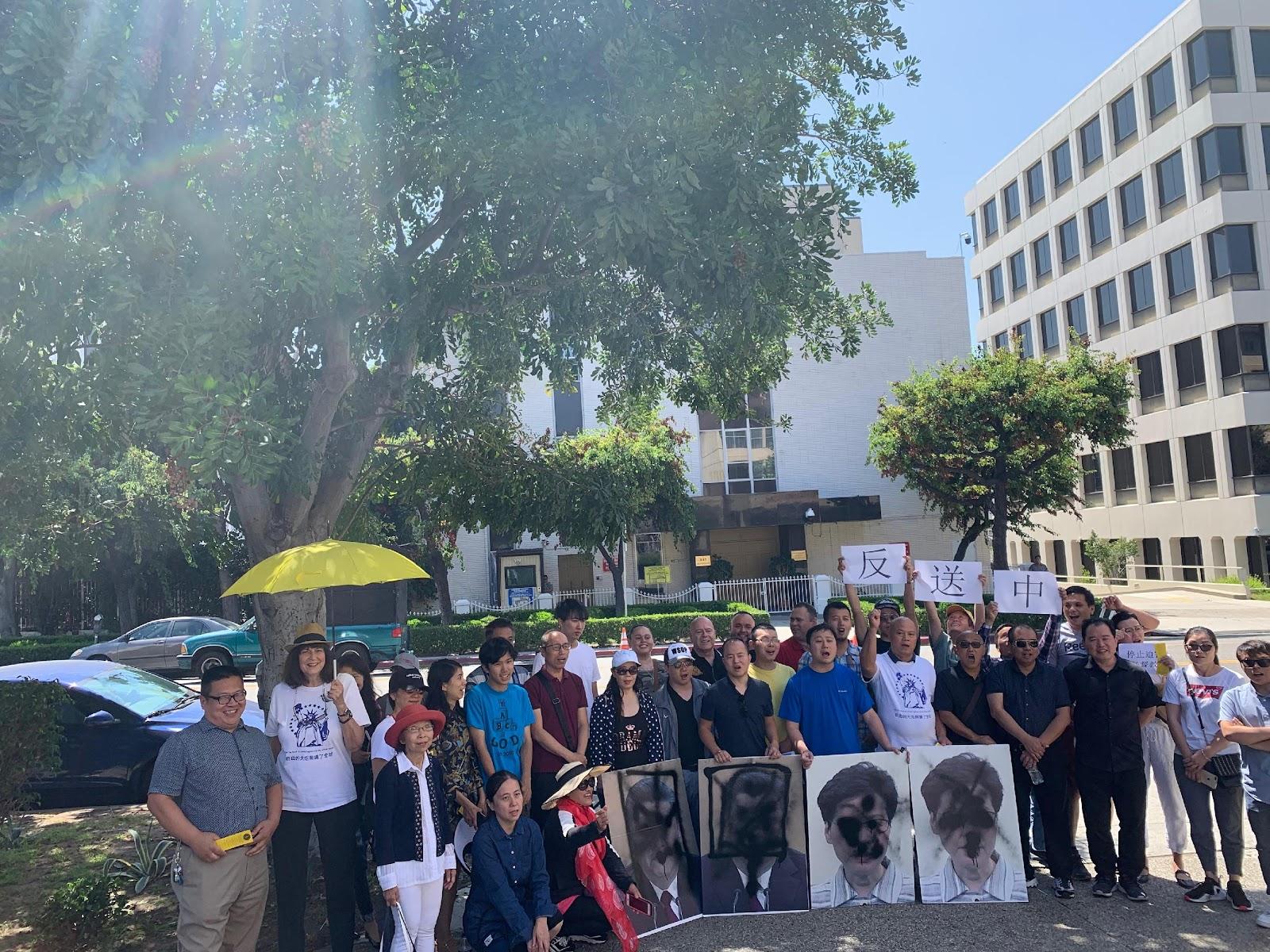 洛杉矶华人民运团体组织第二届泼墨节
