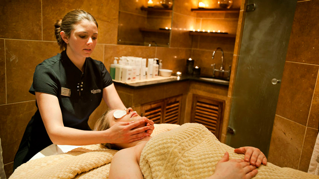 woman having a relaxing massage in a spa