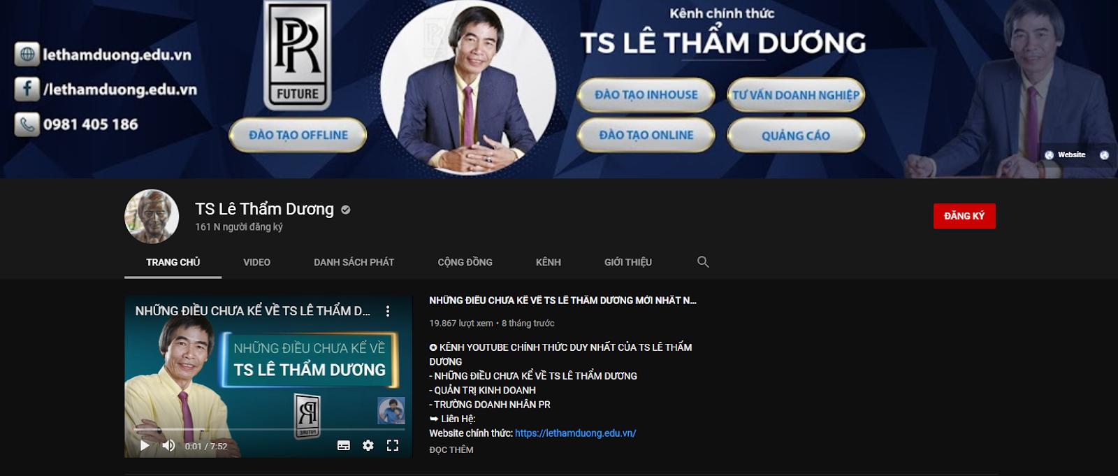 Học đầu tư chứng khoán online-Theo dõi kênh Youtube