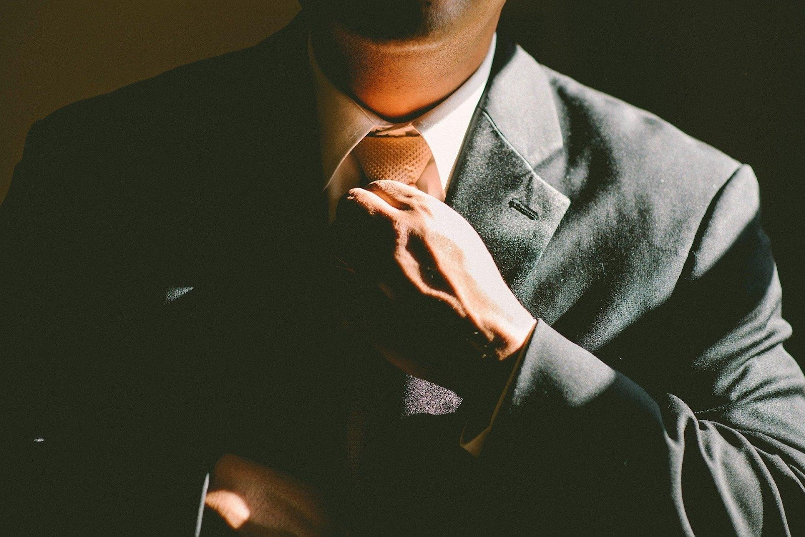 Business person in suit and tie
